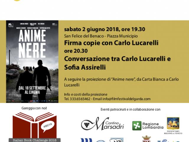 Carlo Lucarelli e Sofia Assirelli